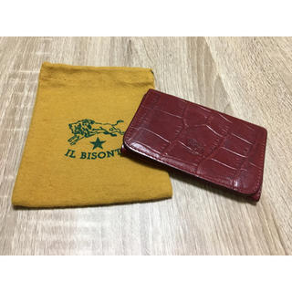 IL BISONTE - 期間限定価格◆イルビゾンテ 正規品 イタリアンレザー クロコ型押し カードケース