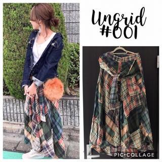 Ungrid - Ungrid**パッチワークマキシシャツスカート