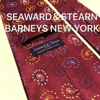 バーニーズニューヨーク(BARNEYS NEW YORK)のSEAWARD&STEARN BARNEYS NEWYORK ボルドー ネクタイ(ネクタイ)