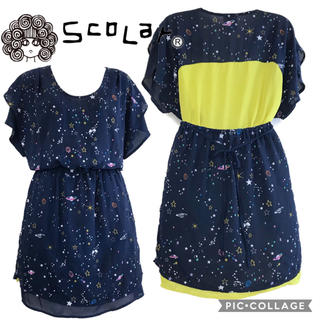 スカラー(ScoLar)のスカラー 星と惑星柄チュニック(チュニック)