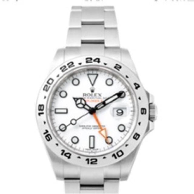 メンズ カルティエ / ROLEX - 【超美品!】Rolex エクスプローラーⅡ 白の通販 by star_platinum0626's shop