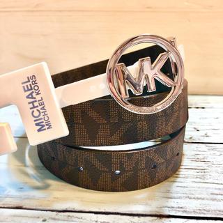 マイケルコース(Michael Kors)のリバーシブル プレゼント 新品 ブランド マイケルコース MK ロゴ ベルト(ベルト)