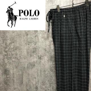 POLO RALPH LAUREN - 【レア】ポロラルフローレン☆ワンポイント刺繍イージー格子チェック柄パジャマパンツ