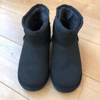ジェリービーンズ(JELLY BEANS)のジェリービーンズ ムートンブーツ 黒 ブラック(ブーツ)