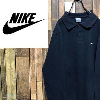 NIKE - 【レア】ナイキNIKE☆ワンポイント刺繍ロゴ長袖ポロシャツ