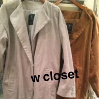 ダブルクローゼット(w closet)のコーディロイコート(ロングコート)
