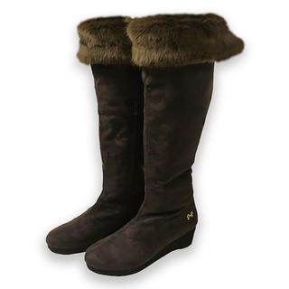 ギャラリービスコンティ(GALLERY VISCONTI)の新品 24cm ブラウン ロングブーツ 茶色 Lサイズ(ブーツ)