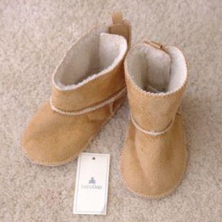 ベビーギャップ(babyGAP)のベビーギャップ*ベビーブーツ*11㎝(6~12ヶ月)*ムートン裏地ボア(ブーツ)
