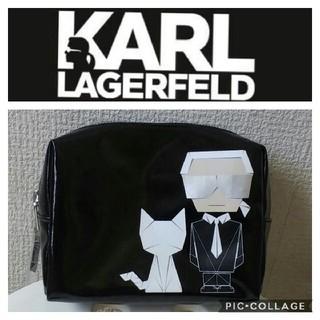カールラガーフェルド(Karl Lagerfeld)の新品 レア❗カールラガーフェルド☆ポーチ カール&シュペット ブラック(ポーチ)