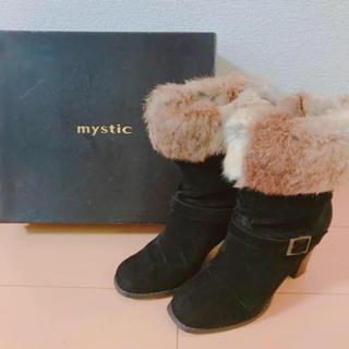 ミスティック(mystic)のmystic・・ファー付きブーツ(ブーツ)