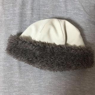 ネストローブ(nest Robe)のmature ha. マチュアーハ ボア フードキャップ(ニット帽/ビーニー)