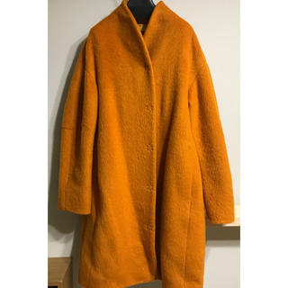 マリメッコ(marimekko)のmarimekko オレンジコート(ロングコート)