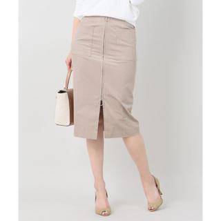 ノーブル(Noble)の未使用 Noble フープジップフレンチコールスカート 34(ひざ丈スカート)