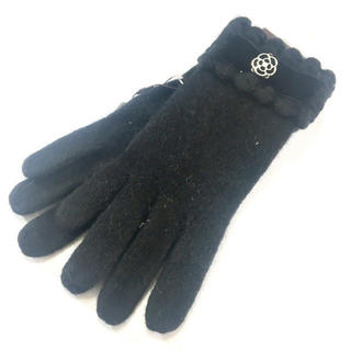 CLATHAS - 新品 リボン 手袋 ベロア ブラック 黒