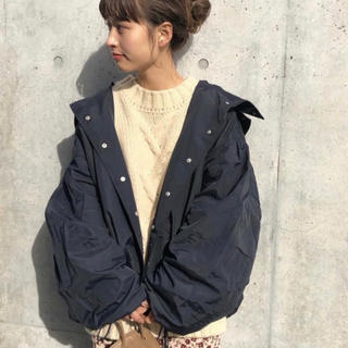 Kastane - ボリューム袖ナイロンパーカー★kastane