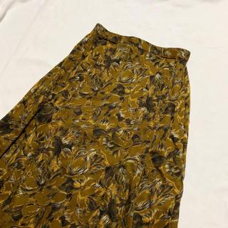 サンタモニカ(Santa Monica)のvintage 花柄 クラシカルレトロスカート(ひざ丈スカート)