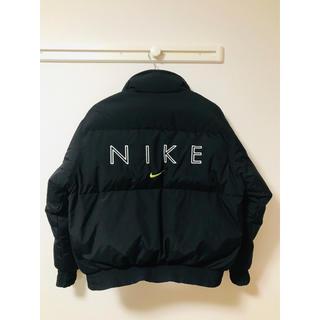 ナイキ(NIKE)の90s ナイキ(NIKE) ダウンジャケット ブラック ネオンカラー 銀タグ(ダウンジャケット)