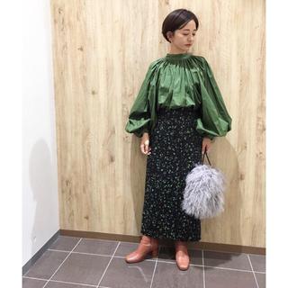 ルシェルブルー(LE CIEL BLEU)のFRAY ID フロントスリットタイトスカート(ロングスカート)