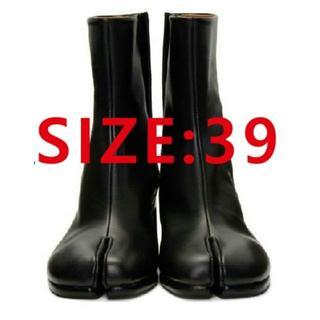 マルタンマルジェラ(Maison Martin Margiela)のMasion Margielaメゾン マルジェラ シルバー ブーツ足袋 39(ローファー/革靴)
