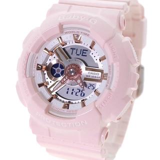 ベビージー(Baby-G)の CASIO 腕時計 レディース BABY-G クォーツ 液晶 パステルピンク(腕時計)