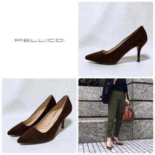 PELLICO - ■ほぼ未使用 定5万 PELLICO ペリーコ パンプス 36.5 23.5 茶