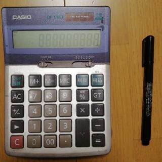 CASIO - 電卓 12桁 ソーラー、電池 中古