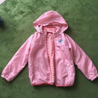 サンカンシオン(3can4on)の美品 アウター 2way ピンク 幼児  ボーダー アウトドア 女の子(ジャケット/上着)