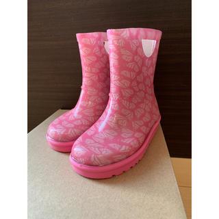 アグ(UGG)のUGG アグ キッズ 子供 ジュニア レインブーツ ピンク 星 15(長靴/レインシューズ)