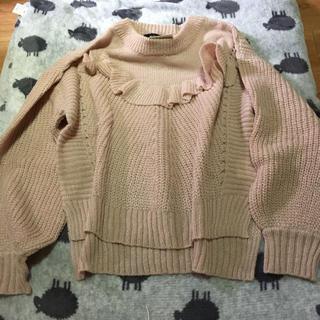 ダブルクローゼット(w closet)のw clocet☆ダク付きフリルニット(ニット/セーター)