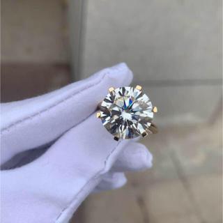 【贅沢10カラット】輝く モアサナイト ダイヤモンド リング(リング(指輪))
