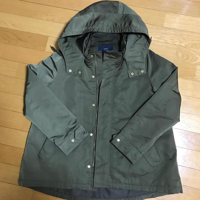 SHIPS(シップス)のカーキ色フード付き、裏地取り外し可能 レディースのジャケット/アウター(モッズコート)の商品写真