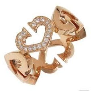 カルティエ(Cartier)のCartier  Cハート  ダイヤ  リング 48(リング(指輪))