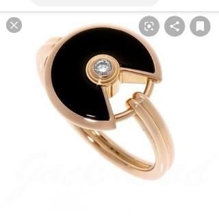 カルティエ(Cartier)のCartier  アミュレット  リング  オニキス(リング(指輪))