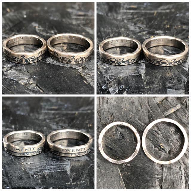 イギリスコインリング 20ペンス お1つからでもペアでも メンズのアクセサリー(リング(指輪))の商品写真