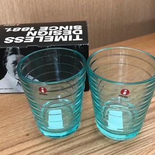 イッタラ(iittala)のイッタラ グラス ウォーターグリーン ペア 新品未使用(グラス/カップ)