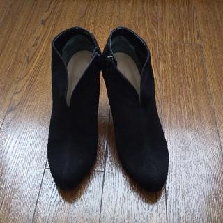 モードエジャコモ(Mode et Jacomo)のcarino スウェードショートブーツ(24.5cm)(ブーツ)