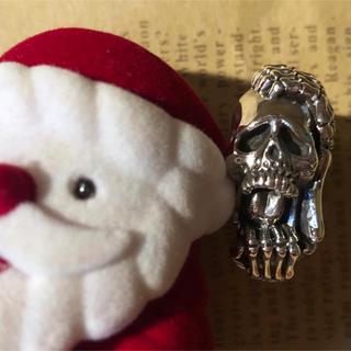 スカル シルバー925 リング  ドクロ ガイコツ 19号 指輪 銀 骸骨(リング(指輪))