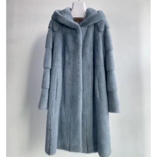フォクシー(FOXEY)のコペンハーゲンファー ミンクコート フード付 未使用 ロング (毛皮/ファーコート)