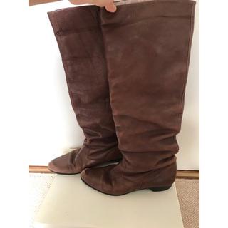 ワノナノ(WANONANO)のWANONANO ブラウン ロングブーツ(ブーツ)