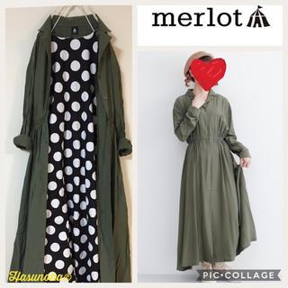 merlot - 【新品】merlot レーヨン混 オープンカラーワンピース
