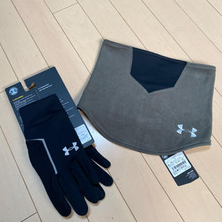 UNDER ARMOUR - 新品!アンダーアーマー  手袋、ネックウォーマー 2点セット