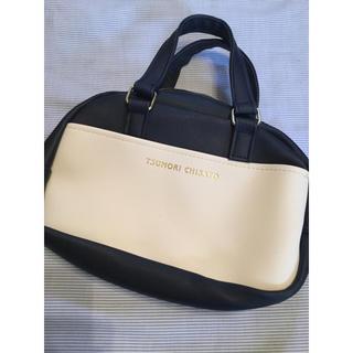ツモリチサト(TSUMORI CHISATO)の【新品わけあり】ツモリチサト ネイビー 白 ハンドバッグ(ハンドバッグ)