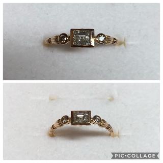 【専用出品】K18PG ダイヤモンド アンティーク調リング 10号(リング(指輪))