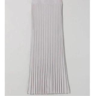 ジーナシス(JEANASIS)のJEANASIS ライトグレー ニットプリーツロングスカート 新品未使用品(ロングスカート)