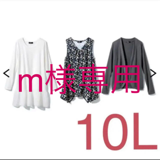 m様専用 ラスト 10L 新品未使用 カーディガン&チュニック3点セットグレー系(カーディガン)