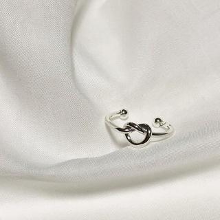 エムドゥー(M.deux)のa5 インポート ノットリング ねじり 結び目 フープ hoop 指輪 シルバー(リング(指輪))