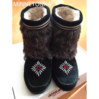 Minnetonka - MINNETONKA ブーツ size7(24㎝)黒
