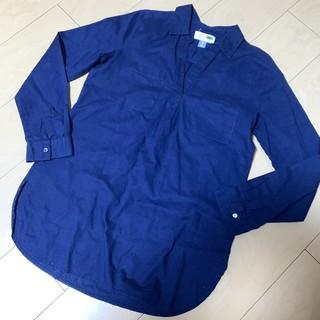 オールドネイビー(Old Navy)のOLD NAVY ☆ オーバーサイズ シャツ ネイビー XS(シャツ/ブラウス(長袖/七分))