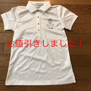 MARK&LONA - マークアンドロナ  レディースポロシャツ ホワイト XS 新品未使用