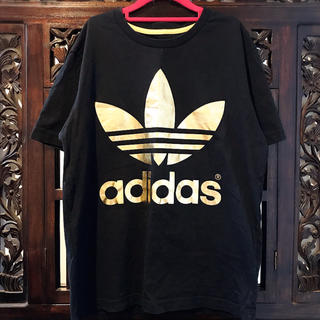 adidas - アディダス オリジナルス ゴールド Tシャツ ジャージ SM トレフォイル